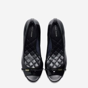 NWB Cole Haan Tali Grand Black Patent Wedges